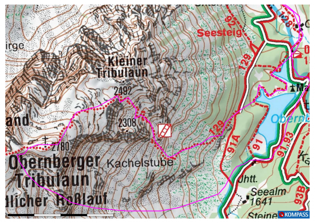 Karte Obernberger Tribulauln